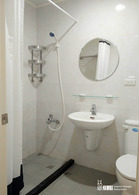 共用衛浴 根據 以恩設計 北歐風