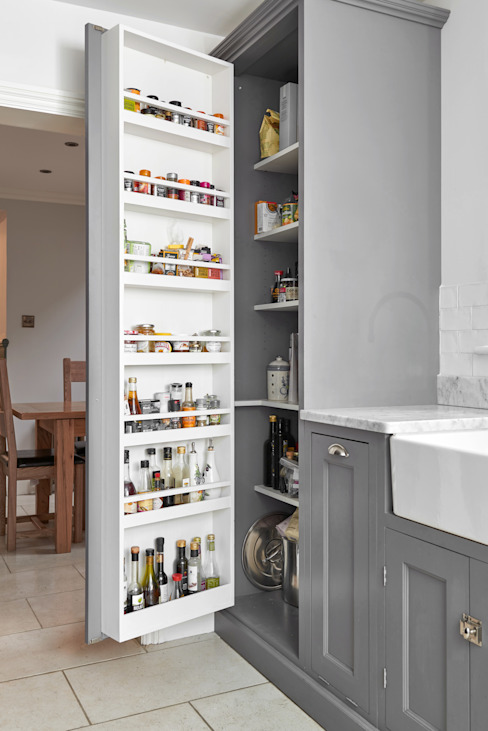 Bespoke kitchen storage Purdom's Bespoke Furniture Kırsal/Country Ahşap Ahşap rengi