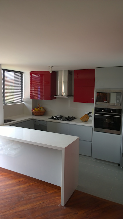 BIANCO KitchenCabinets & shelves Chipboard Red