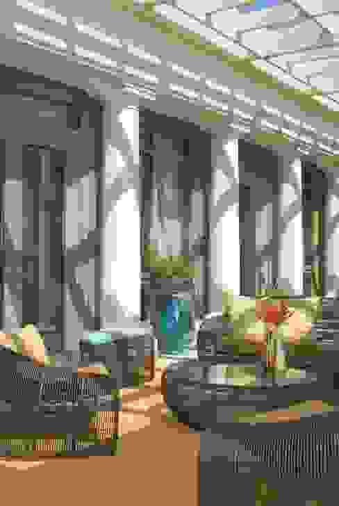Penthouse Posh - Terrace Sitting Lorna Gross Interior Design Modern style balcony, porch & terrace