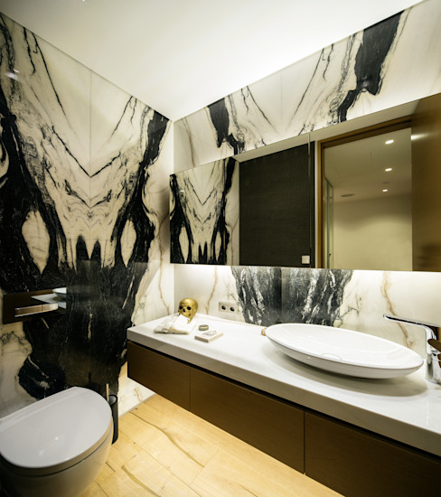 PRIVATE RESIDENCE - ISTANBUL Modern Bathroom by MERVE KAHRAMAN PRODUCTS & INTERIORS Modern Marble