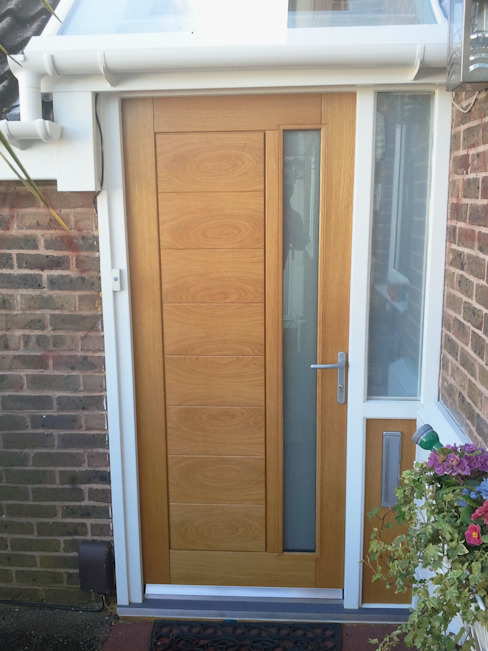 Oak front door de Wonkee Donkee XL Joinery Moderno