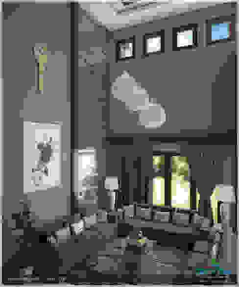 A Modern Elegant Feel Modern living room by Premdas Krishna Modern