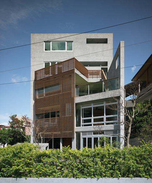 YS114 House 現代房屋設計點子、靈感 & 圖片 根據 前置建築 Preposition Architecture 現代風