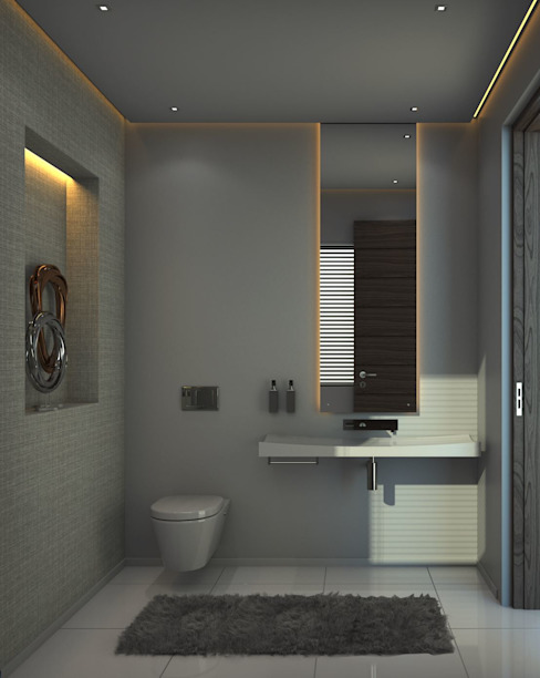 House St Andrews:  Bathroom by Principia Design, Modern