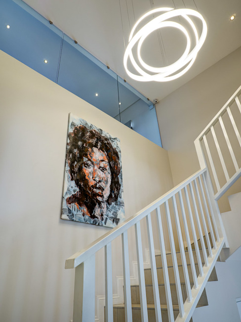 House Morningside Minimalist corridor, hallway & stairs by Principia Design Minimalist