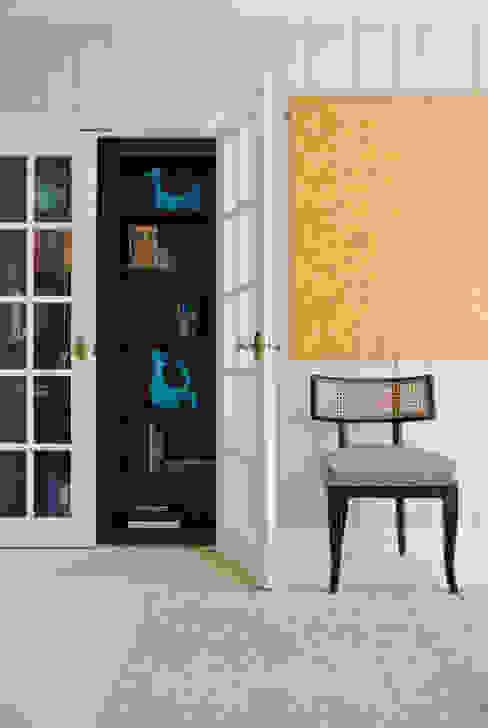 DC Design House - Custom Closet and Chair Lorna Gross Interior Design Modern living room