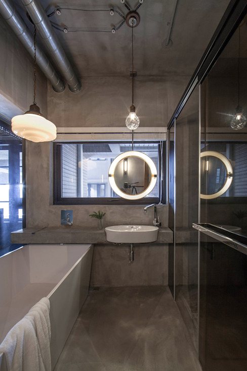 Industrial style bathroom by 璧川設計有限公司 Industrial
