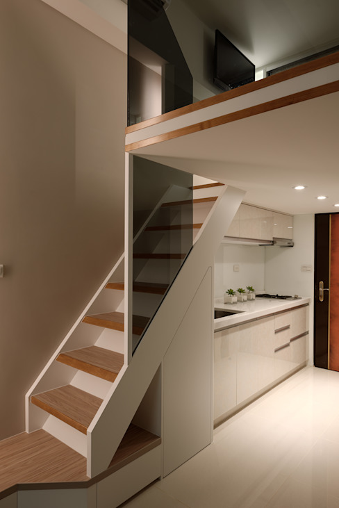 農安街樓中樓 星葉室內裝修有限公司 現代廚房設計點子、靈感&圖片