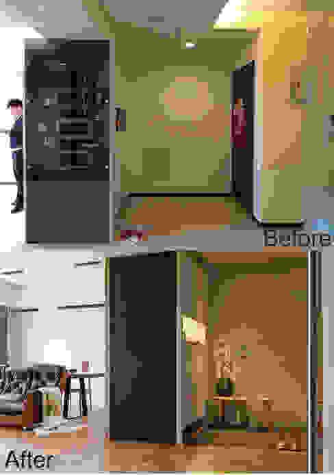 賀澤室內設計 HOZO_interior_design 隨意取材風玄關、階梯與走廊 根據 homify 隨意取材風