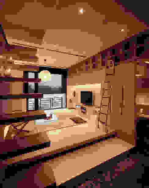 Minimalist Koridor, Hol & Merdivenler 鼎爵室內裝修設計工程有限公司 Minimalist Kontraplak