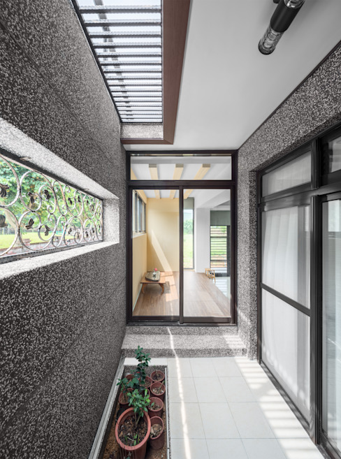 Modern balcony, veranda & terrace by Glocal Architecture Office (G.A.O) 吳宗憲建築師事務所/安藤國際室內裝修工程有限公司 Modern