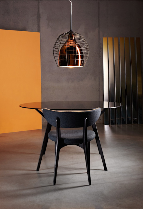 Diesel Cage Suspension Light:  Living room by Campbell Watson,
