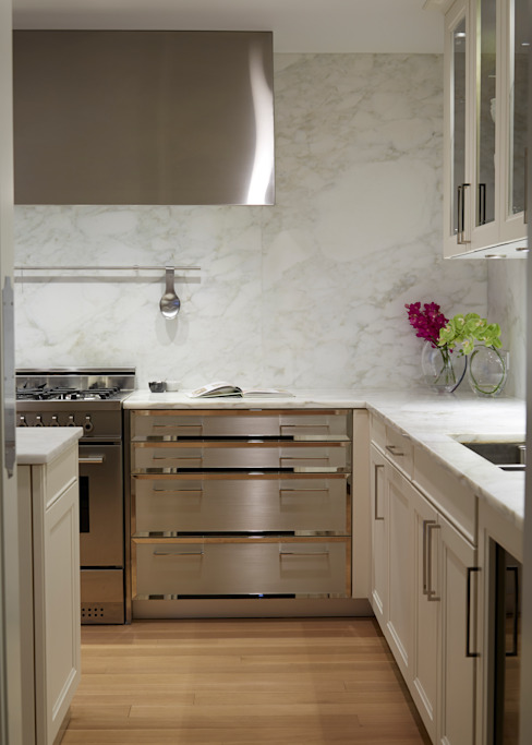 New York City Family Home Classic style kitchen by JKG Interiors Classic Marble