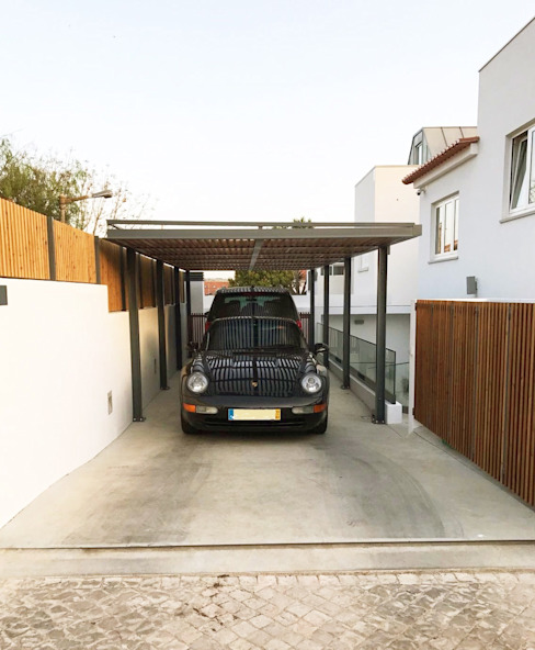 Modern Garage and Shed by mube arquitectura Modern