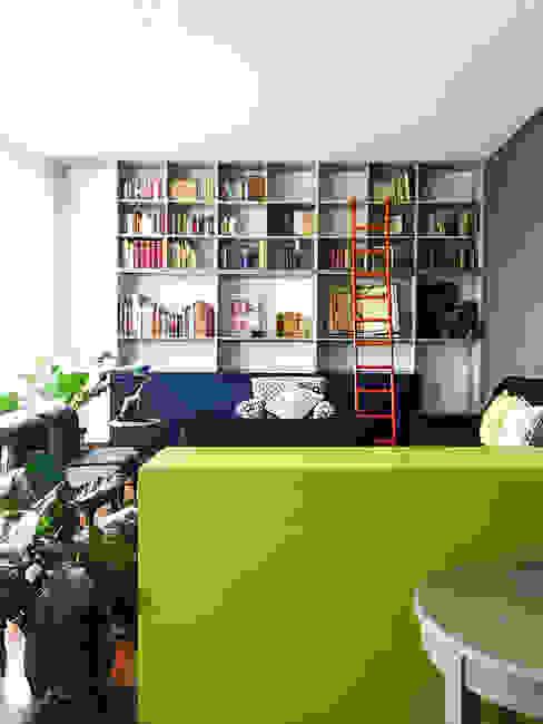 Casa Damas Sentido Arquitectura Salones modernos Madera Verde