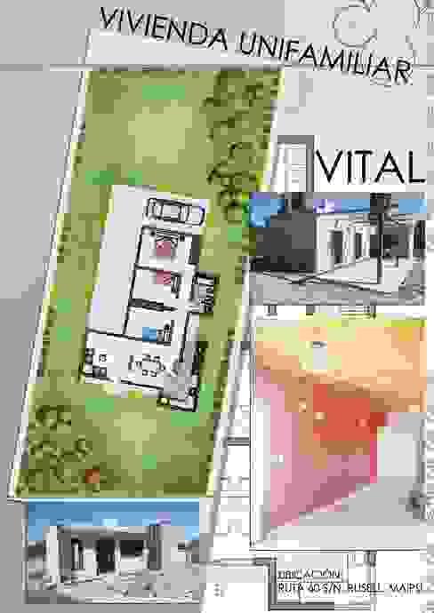 Casas de estilo  por Hornero Arquitectura y Diseño
