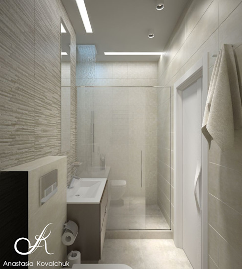 Modern bathroom by Design studio by Anastasia Kovalchuk Modern