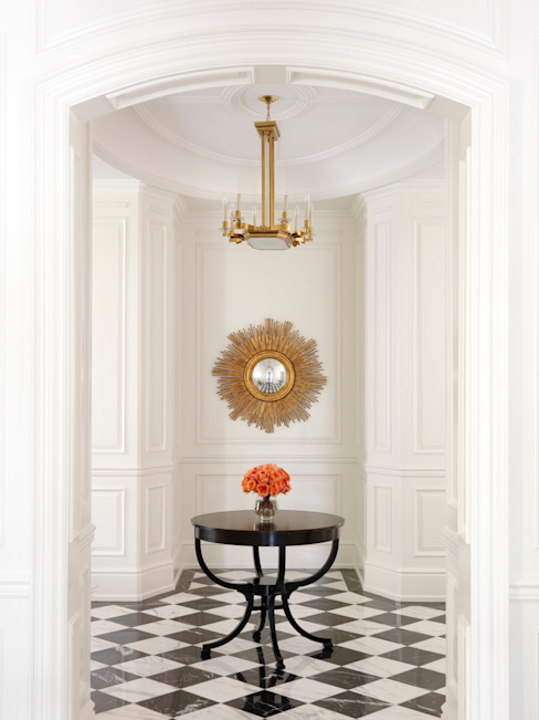 Foyer Classic style corridor, hallway and stairs by Douglas Design Studio Classic