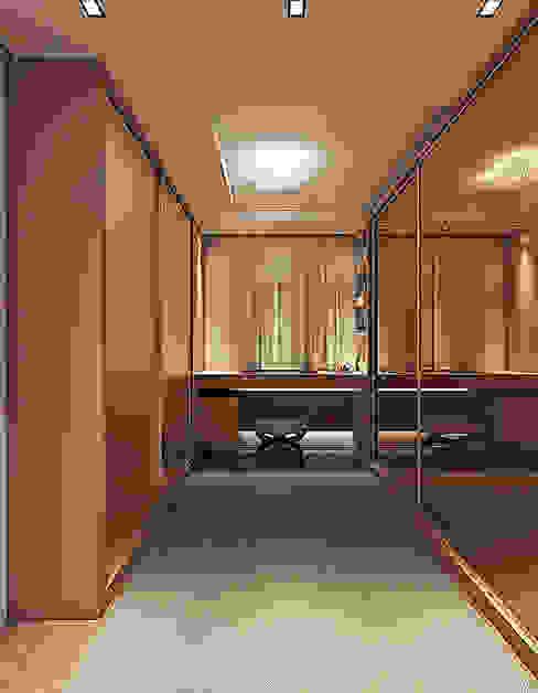 Closet Flávia Kloss Arquitetura de Interiores Closets MDF Ambar/dourado