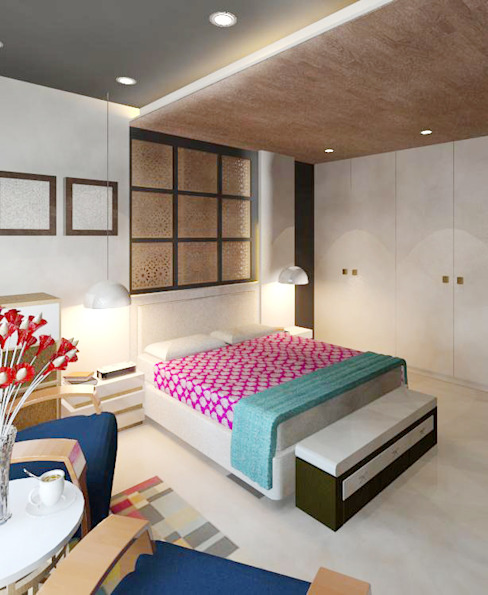 Sheth Residence Modern style bedroom by Ramnani & Associates Modern