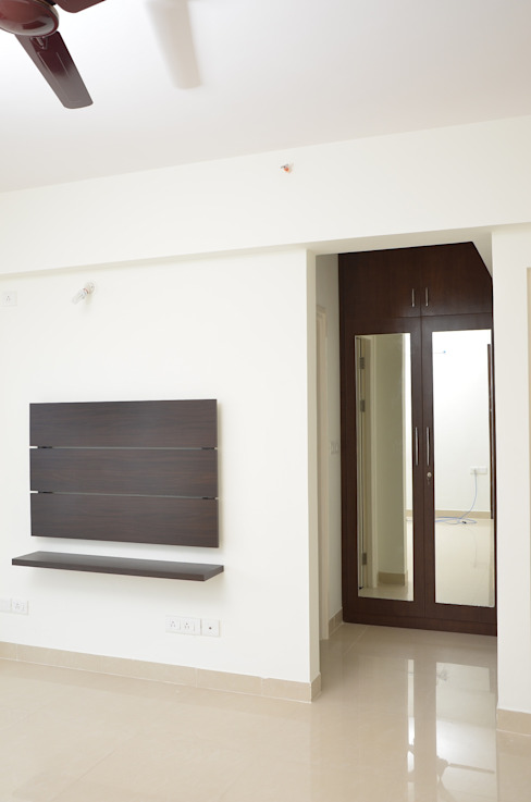 Bedroom Tv Unit Asian style bedroom by homify Asian Plywood