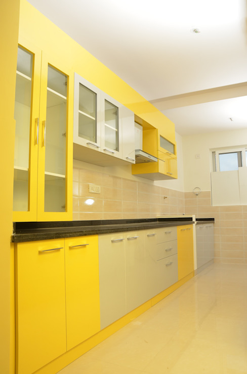 Parallel Modular Kitchen Designs In India Asian style kitchen by homify Asian Plywood