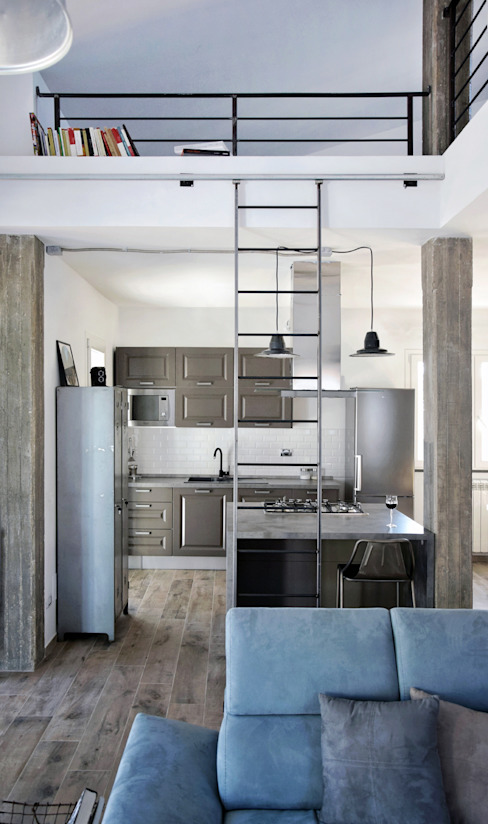 Mohamed Keilani Interiors Industrial style kitchen