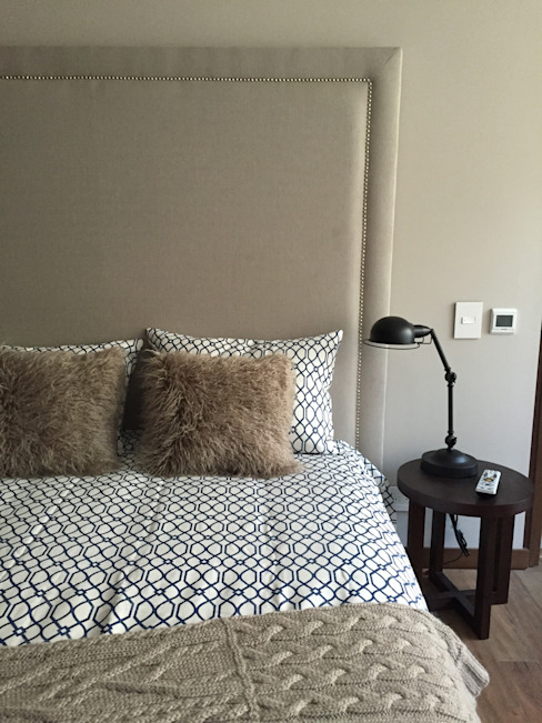 Ecologik Eclectic style bedroom Beige