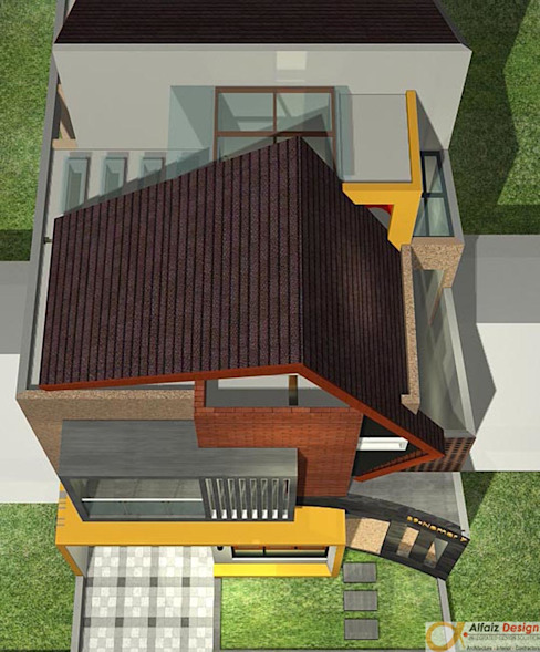 Atap Rumah Rumah Tropis Oleh Alfaiz Design Tropis Batu Bata