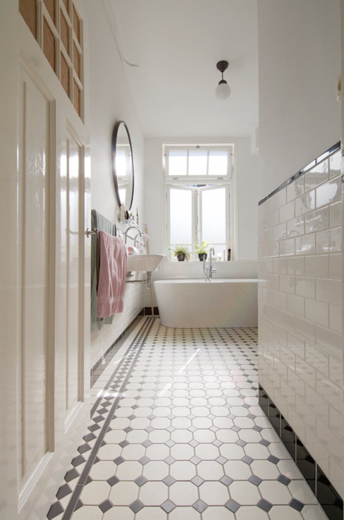 Modern bathroom by studiopops Modern Tiles