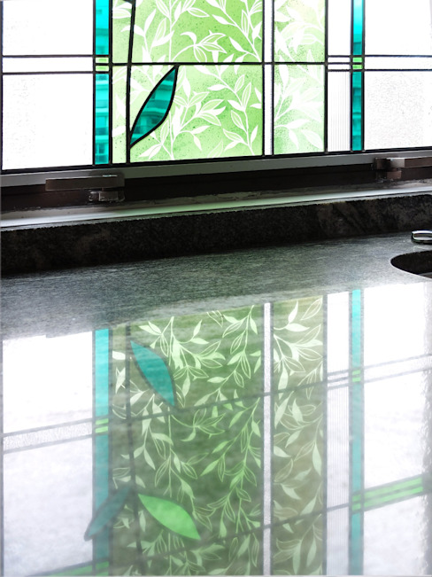 Atelier La Couleur du Verre Modern kitchen Glass Green