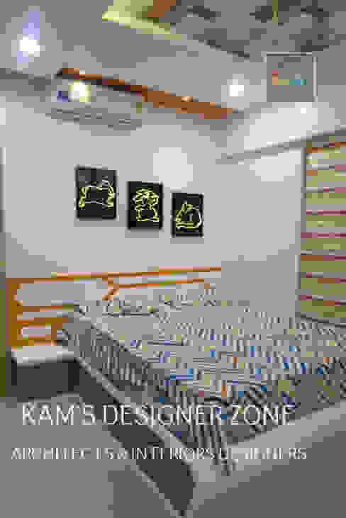 Home Interior Design for PREETI AGARWAL Modern style bedroom by KAM'S DESIGNER ZONE Modern