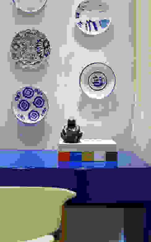 Studio MAR Arquitetura e Urbanismo Salon moderne MDF Bleu