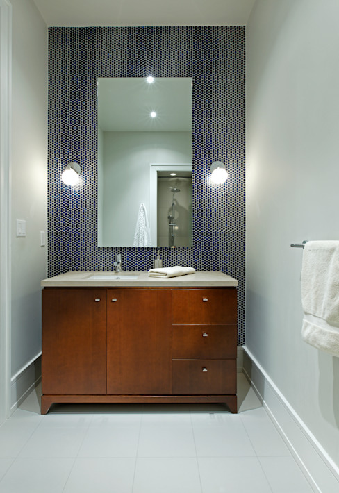 Powder Room Modern bathroom by Douglas Design Studio Modern Wood Wood effect