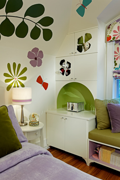 Girls Bedroom Storage Modern style bedroom by Douglas Design Studio Modern