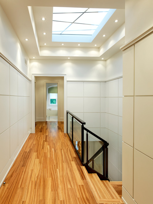 Hallway & Skylight Modern Corridor, Hallway and Staircase by Douglas Design Studio Modern