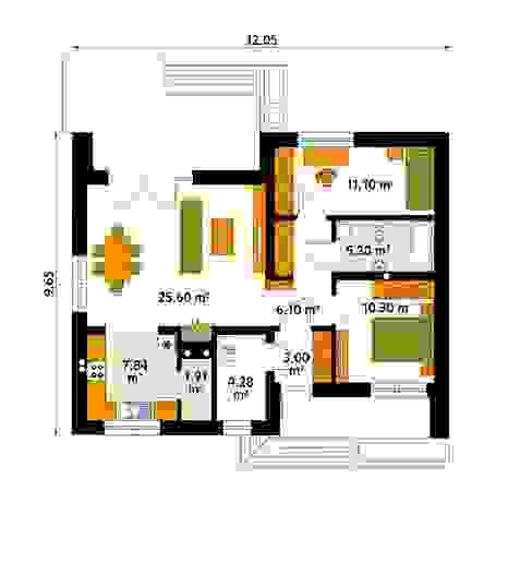 Biuro Projektów MTM Styl - domywstylu.pl Paredes y pisos modernos