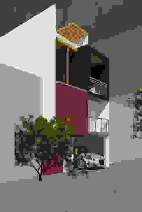 Fachada 2 Casas modernas: Ideas, diseños y decoración de Perfil Arquitectónico Moderno Concreto