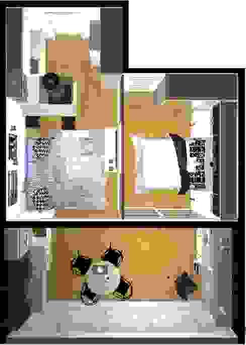 Planta Salas de estar modernas por Arquiteta Elaine Silva Moderno
