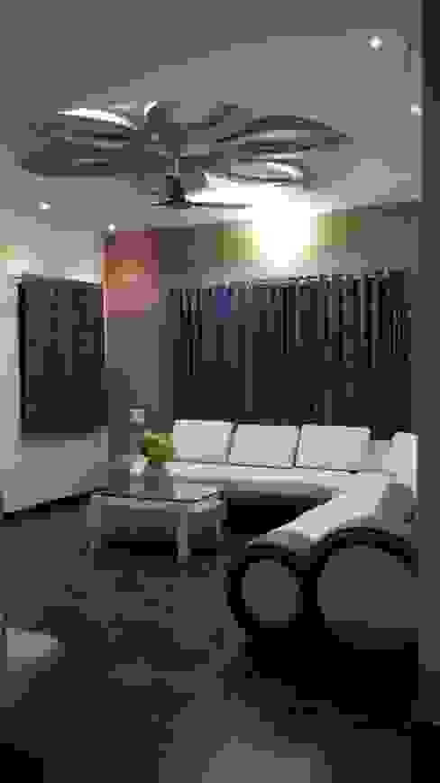 Mansi Twins Modern living room by AOM Interior Modern