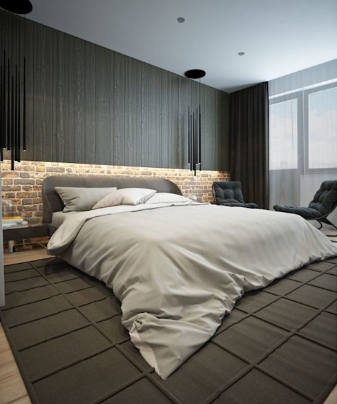 INTERIOR FLAT Modern style bedroom by Archie-Core Modern