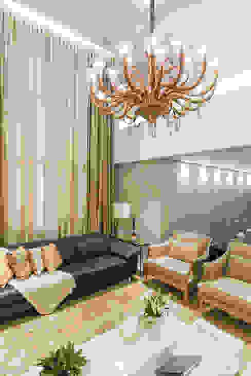 Livings de estilo clásico de Leticia Athayde Arquitetura Clásico