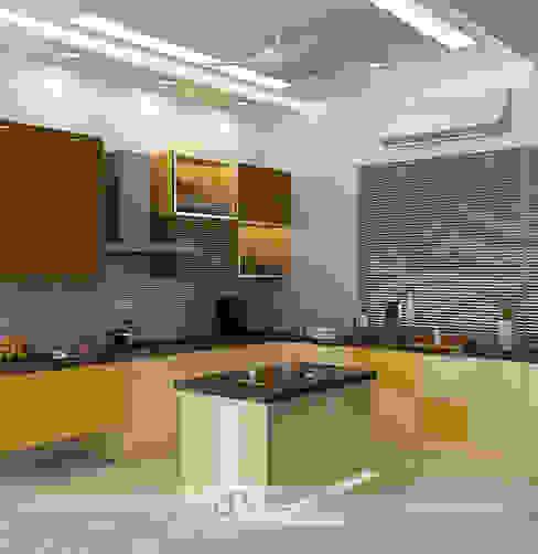Villa at Jay Pee Greens Greater Noida Modern kitchen by Design Essentials Modern Plywood