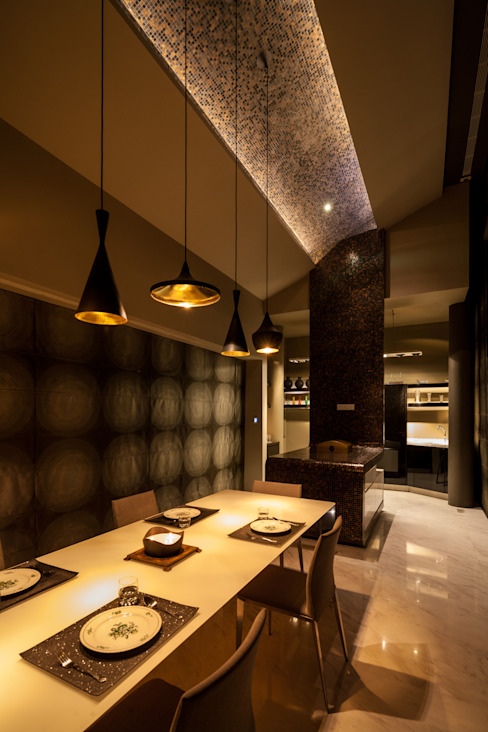 Asian style dining room by E&U Asian