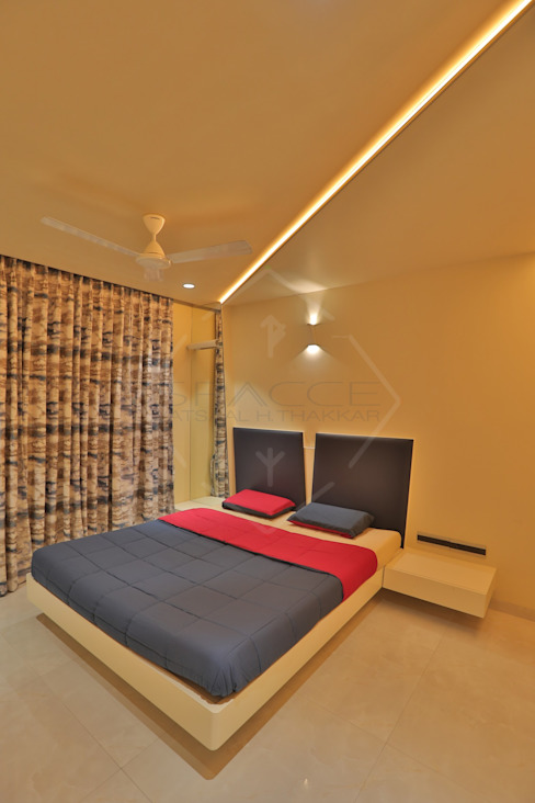 SKY DECK Asian style bedroom by SPACCE INTERIORS Asian