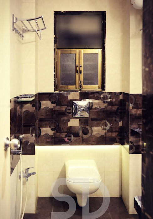 Common Bathroom Minimalist bathroom by SUMEDHRUVI DESIGN STUDIO Minimalist