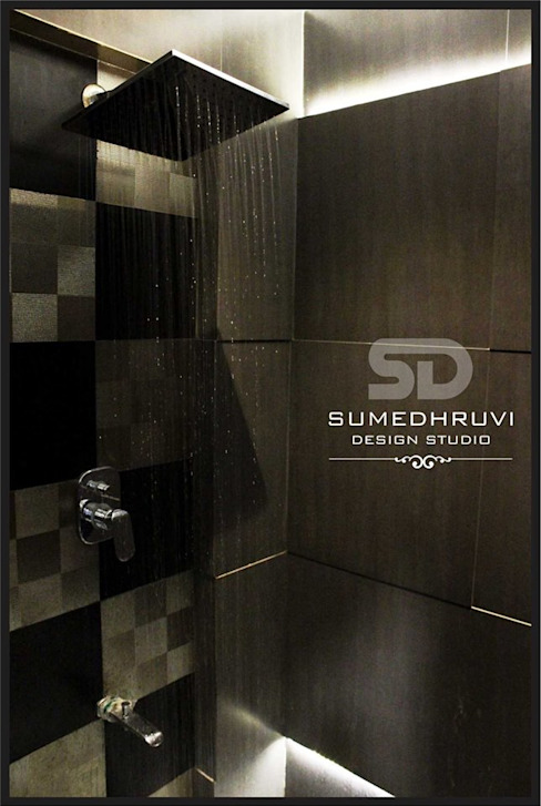 Master Bathroom Shower area SUMEDHRUVI DESIGN STUDIO Modern bathroom