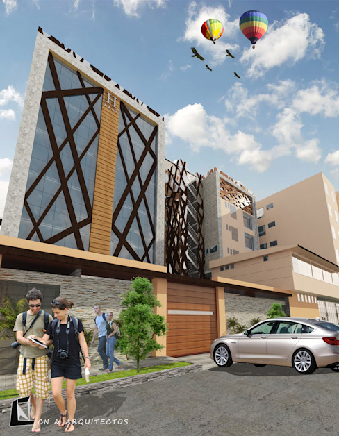 HOTELCN - CHICLAYO: Casas de estilo  por CN y Arquitectos,
