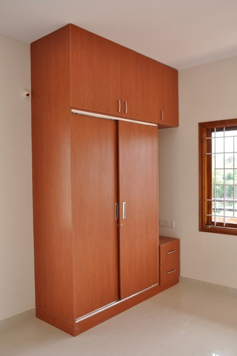 Wardrobe Designs Asian style bedroom by homify Asian Plywood